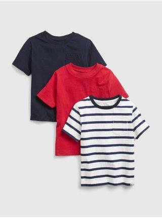 Barevné klučičí dětské tričko 100% organic cotton mix and match t-shirt (3-pack)