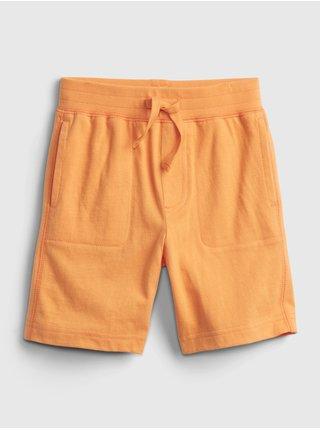 Oranžové klučičí dětské kraťasy 100% organic cotton mix and match pull-on shorts