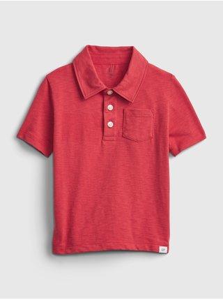 Červené klučičí dětské polo tričko shirt