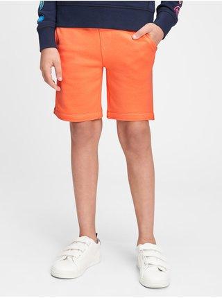 Oranžové klučičí dětské kraťasy GAP Logo pull-on shorts