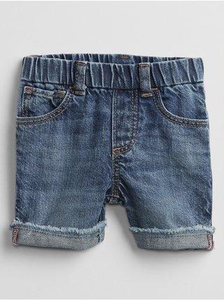 Modré klučičí baby kraťasy pull-on denim shorts