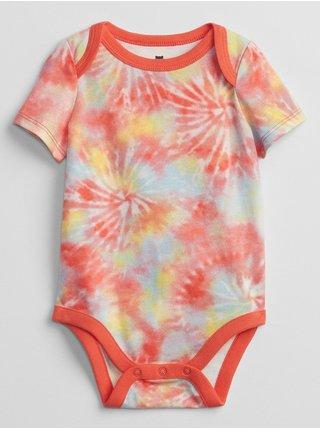 Oranžové klučičí baby body mix and match tie-dye bodysuit