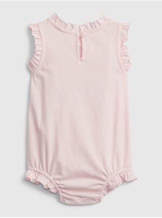 Růžové holčičí baby body GAP Logo arch suit