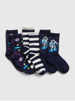 Barevné klučičí dětské ponožky basic space crew, 3 páry