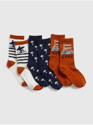 Barevné  dětské ponožky basic crew socks, 3 páry