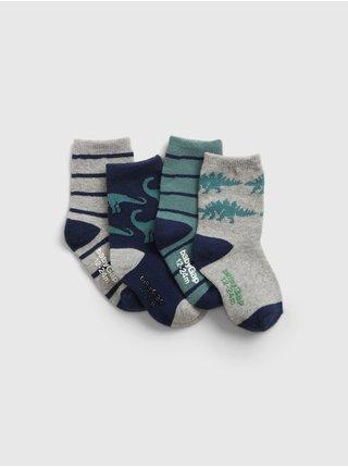Barevné  dětské ponožky crew socks, 4 páry