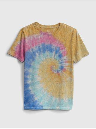 Barevné klučičí dětské tričko pocket wash effect t-shirt