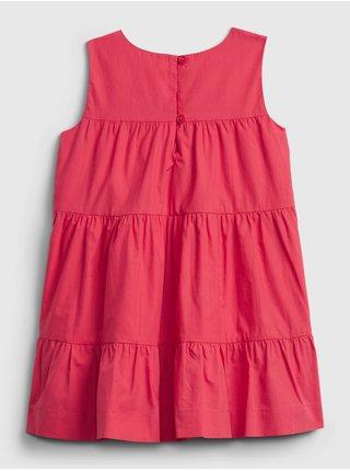 Červené holčičí dětské šaty tiered dress