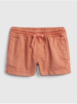 Oranžové holčičí dětské kraťasy pull-on shorts