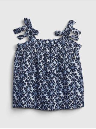 Modrý holčičí dětský top print top