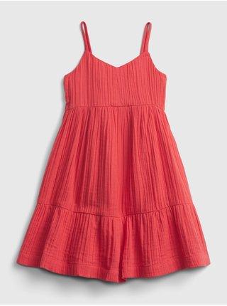 Červené holčičí dětské šaty strappy tank dress