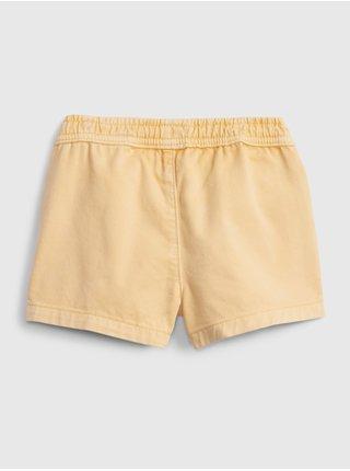 Žluté holčičí dětské kraťasy pull-on shorts