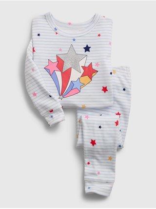 Bílé klučičí dětské pyžamo 100% organic cotton star graphic pj set