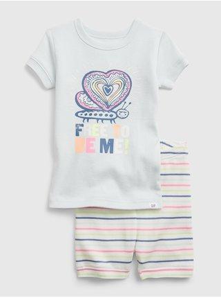 Barevné dětské pyžamo organic catton mix and match pants