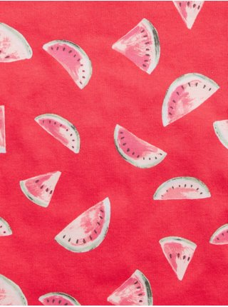 Oranžové klučičí dětské pyžamo meloun print two-peace sleepwear