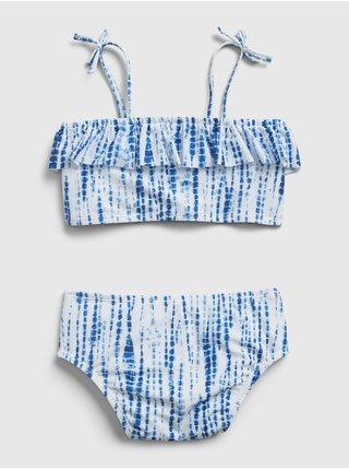 Modré holčičí dětské plavky ruffle swim two-peice
