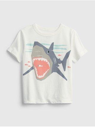 Bílé klučičí dětské tričko 100% organic cotton mix and match graphic t-shirt