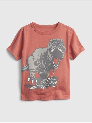 Červené klučičí dětské tričko 100% organic cotton mix and match graphic t-shirt