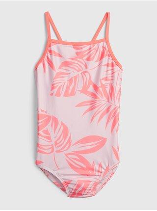 Růžové holčičí dětské plavky recycled swim one-piece