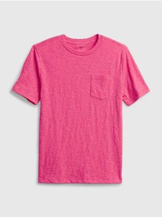Růžové klučičí dětské tričko 100% organic cotton t-shirt