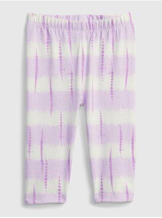 Fialové holčičí dětské legíny organic cotton crop leggings