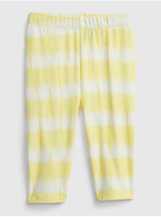 Žluté holčičí dětské legíny organic cotton crop leggings