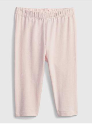 Růžové holčičí dětské legíny organic cotton crop leggings