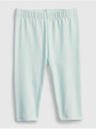 Modré holčičí dětské legíny organic cotton crop leggings