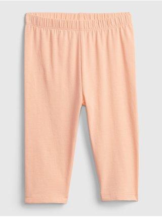 Oranžové holčičí dětské legíny organic cotton crop leggings