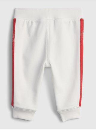 Bílé klučičí baby tepláky GAP Logo arch novelty joggers