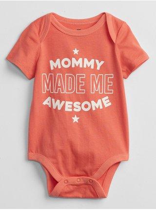 Oranžové klučičí baby body mix and match family bodysuit