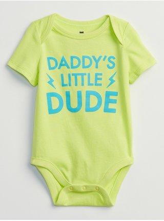 Žluté klučičí baby body mix and match family bodysuit