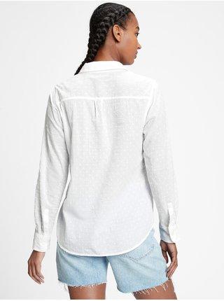 Bílá dámská košile button-front pocket shirt