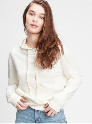 Bílá dámská mikina fleece hoodie