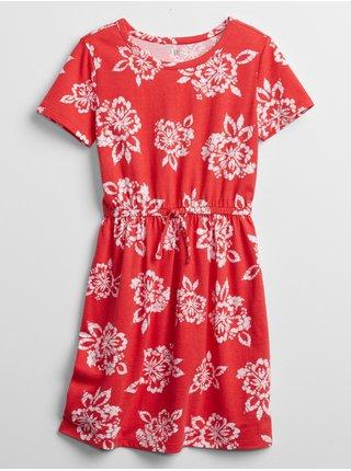 Červené holčičí dětské šaty knit skater dress
