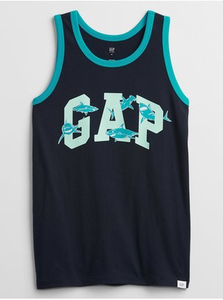 Modré klučičí dětské GAP Logo tílko graphic tank