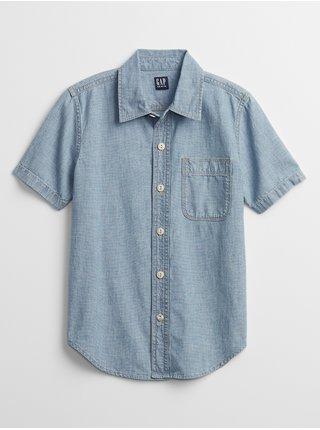 Modrá klučičí dětská košile chambray shirt