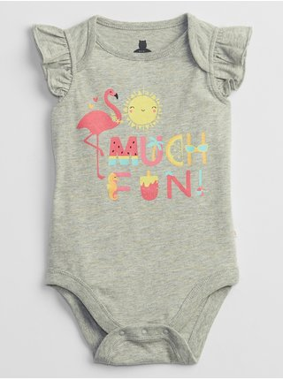 Šedé holčičí baby body mix and match graphic bodysuit