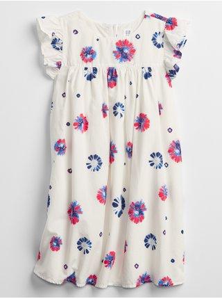 Bílé holčičí dětské šaty ruffle sleeve dress