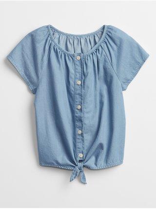 Modrý holčičí dětský top chambray