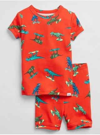 Oranžové klučičí dětské pyžamo 100% organic cotton dino pj set
