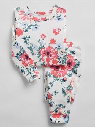Barevné holčičí dětské pyžamo 100% organic cotton floral pj set