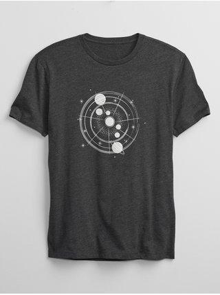 Černé pánské tričko galaxy map t-shirt