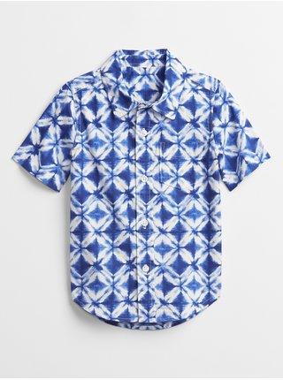 Modrá klučičí dětská košile poplin shirt