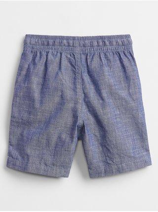 Modré klučičí dětské kraťasy chambray pull-on shorts