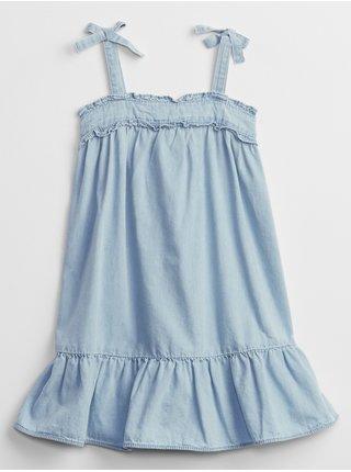 Modré holčičí dětské šaty denim dress