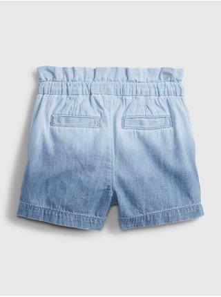 Modré holčičí dětské kraťasy ruffle dip dye shorts