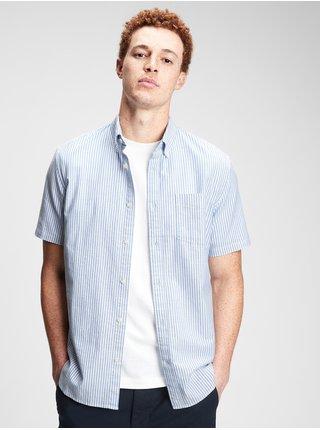 Modrá pánská košile lived-in stretch oxford shirt