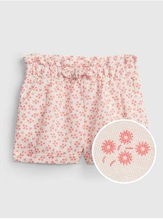 Růžové holčičí dětské kraťasy utility shorts