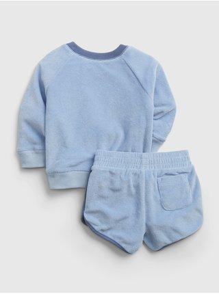 Modrý klučičí baby set knit outfit